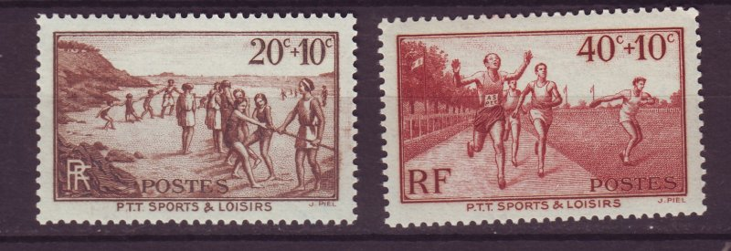 J24640 JLstamps 1937 france part of set mnh #b60-1 sports