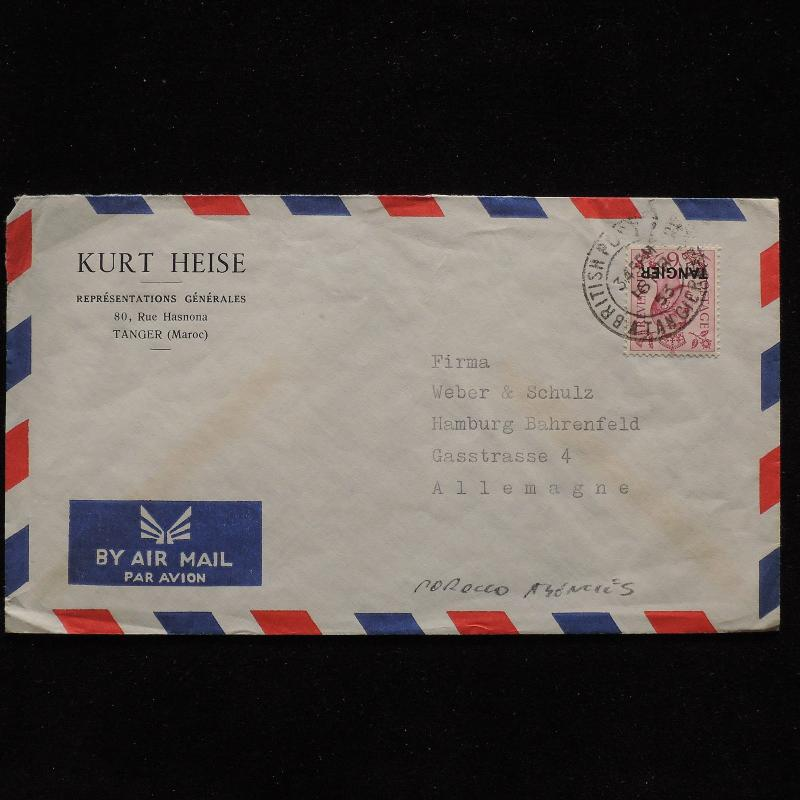 ZS-AB957 MOROCCO AGENCIES - Airmail, 1953 To Germany Cover