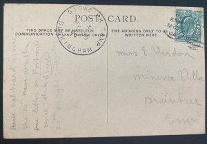 1904 Buckingham England Real Picture Postcard Cover Royal Buck Hussars Encapment