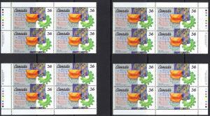 Canada Sc# 1134 MNH PB Set/4 1987 36c Engineering Institute 100th
