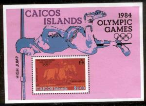 CAICOS ISLANDS UNLISTED MNH 1984 OLYMPICS SOUVENIR SHEET
