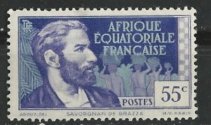 French Equatorial Africa # 49  DeBrassa 0.55fr  (1)    Unused