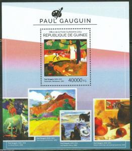 GUINEA 2014 PAUL GAUGUIN  SOUVENIR SHEET MINT NH