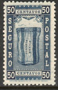 MEXICO G8, 50cents INSURED LETTER. MINT, NH. F-VF