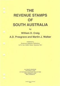 Priced Catalogue of the REVENUE STAMPS OF SOUTH AUSTRALIA Cinderella Fiscal