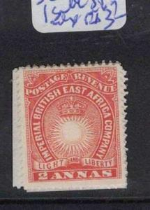 British East Africa SC 6, 1 Straight Edge (varying Sides) MOG (7drr)