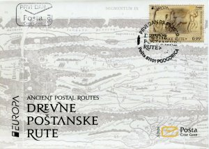 Montenegro Europa Stamps 2020 FDC Ancient Postal Routes Services Horses 1v Set