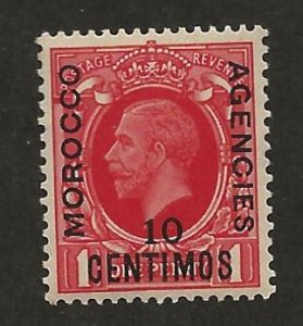 GREAT BRITAIN OFFICES - MOROCCO SC# 72  FVF/MOG 1935