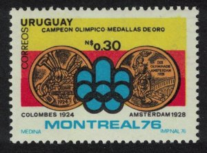 Uruguay Summer Olympic Games Montreal MI#1433 SC#967