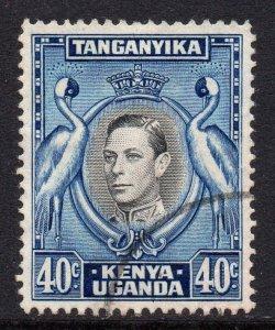 KUT 1938 KGVI 40c black & blue SG 143 used - Kenya Uganda Tanganyika.