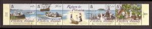 Pitcairn Islands scott #684 Strip 4 +Label m/nh stock #33951