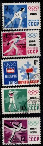 Russia Scott 2843-2847 Used CTO Olympic stamp set