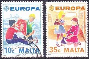 MALTA 1989 10c/35c Europa Children's Games Pair Multicoloured SG849/850 FU