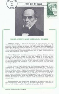 1380 6c DANIEL WEBSTER - DARTMOUTH CASE - Hammond Card
