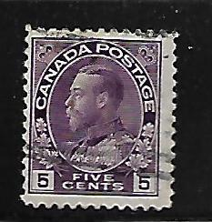 CANADA, 112, USED, KING GEORGE 1911-25 SET
