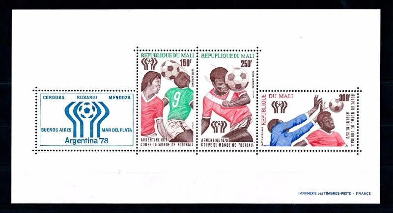 [43657] Mali 1978 Sports World Cup Soccer Football Type 1 repuplique MNH Sheet