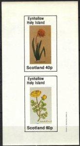 {E140} Eynhallow Scotland Flowers (2) Sh.2 Imperf. MNH Cinderella !!