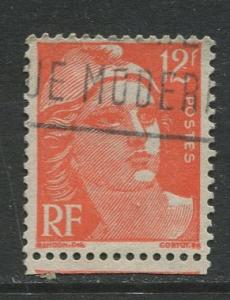 France - Scott 652 - General Definitive Issue -1951 - Used -12fr Stamp