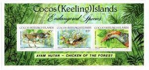 COCOS ISLAND 263 MH S/S SCV $7.50 BIN $3.75 BIRDS