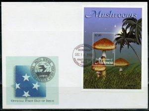MICRONESIA 2002 MUSHROOMS SOUVENIR SHEET FIRST DAY COVER