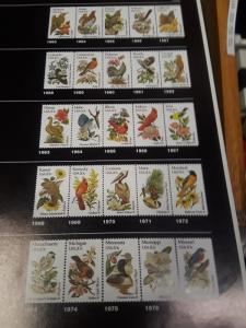 USA 20c Used Birds & Flowers Set 1982