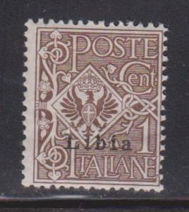 LIBYA Scott # 1 MH - Stamp Of Italy Overprinted