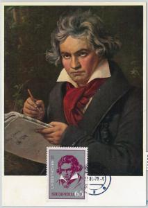 63353 -  ALBANIA - POSTAL HISTORY: MAXIMUM CARD  -  MUSIC:  BEETHOVEN 1971