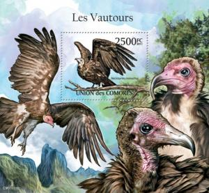 COMORES 2011 SHEET VAUTOURS VULTURES BUITRES BIRDS OF PREY cm11111b