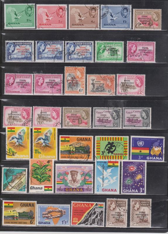 GHANA - Lot Of Mostly Used Issues - Nice Stamps