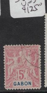 French Gabon 5F SC 32 VFU (6dpj)