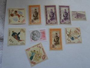 MONACO STAMPS LOT. 10 STAMPS. # 16