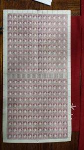 IRELAND 1940-1942 #108 FULL SHEET(12 GUTTER PAIRS)MNH, FOLDED TWICE,C.V=$us4,080