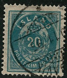 Iceland Attractive Sc #17 perf 14x13 1/2 Used F-VFSCV$60