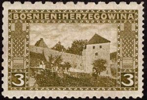 Bosnia Herzegovina Scott 32d Compound Perfs 12.5x9.25, 6.5 MH*