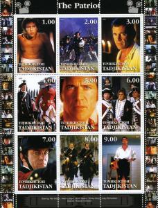 Tadjikistan 2001 Mel Gibson The Patriot Film Sheet Perforated mnh.vf