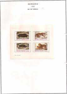 SCOTLAND - BERNERA - 1982 - Animals (13) - 4v Imperf Sheet - MLH