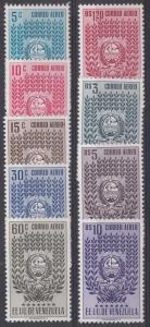 Venezuela Scott C437-C445 Mint NH (C443 small rust spot on gum)