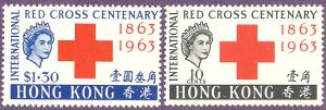 Hong Kong #219-20    Mint   VF NH - LSP