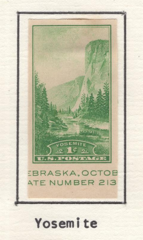 US 1935 National Parks Yosemite Scott 769a  MH