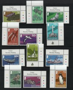 South Georgia 2020 definitive set Superb MNH condition.