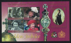 BAT Queen Elizabeth II Golden Jubilee MS SG#MS343