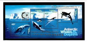 Australian Antarctic Terr L97b MNH 1995 S/S with Singapore O/P