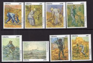 Ghana 1328-1335 Paintings MNH VF