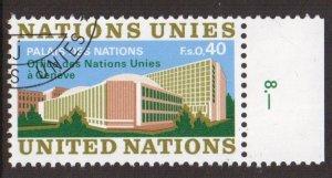 United Nations Geneva  #22 cancelled  1972  Palais