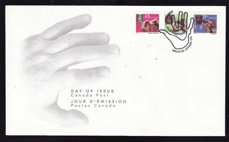 Canada-Sc#1928-30-stamps on FDC-Traditional Trades Definitives-Coils-2002-