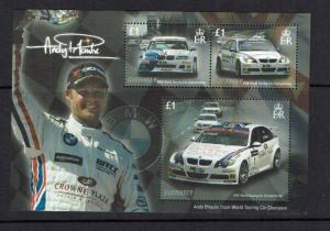 Guernsey: 2008  Andy Priaulx, Triple World Touring Car Champion, Miniature sheet