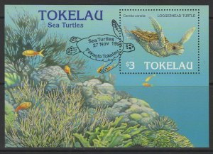TOKELAU ISLANDS SGMS238 1995 SEA TURTLE FINE USED