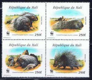 Mali 918 NH 1998 Porcupines block of 4