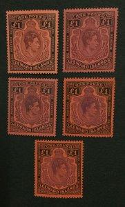 MOMEN: LEEWARD ISLANDS SG #114 SHADES MINT OG 2H/3NH LOT #198624-6205