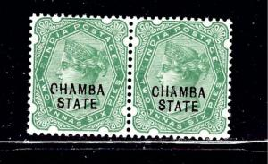 India Chambra #5 MNH 1895 issue in a pair